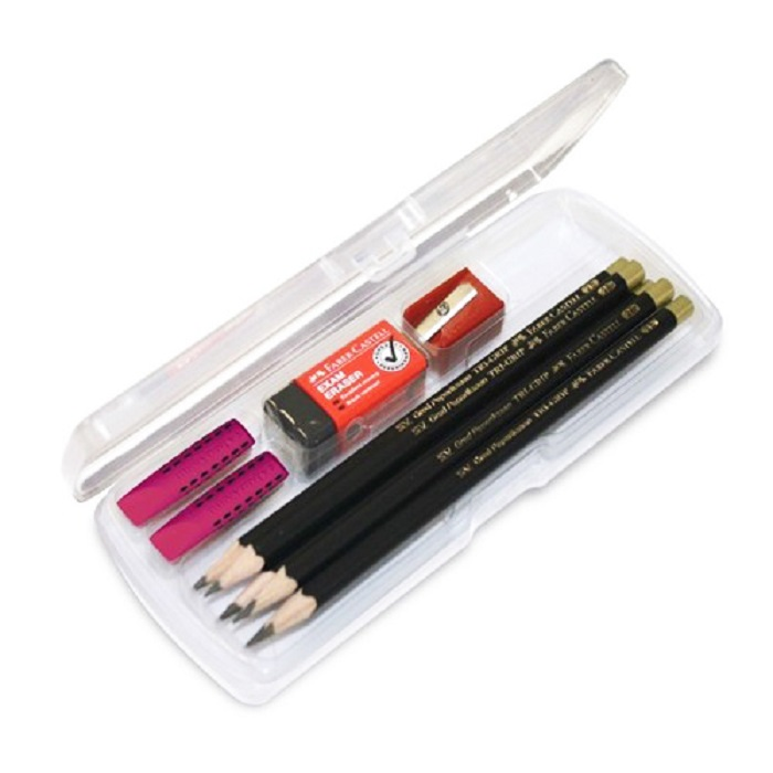 Faber-Castell 2B Exam Set In Clear Box