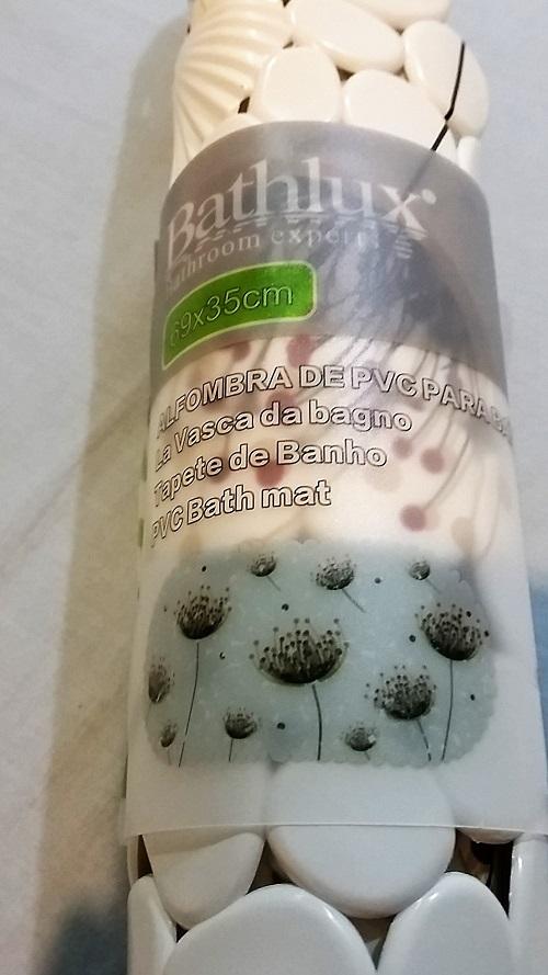 Bathlux Flower Print Bathroom Non-Slip Mat