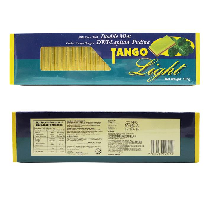 Tango Light Milk Chocolate Double Mint Twin Packs (2 x 137g)