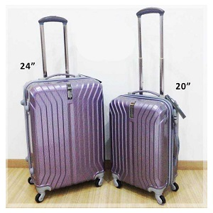 Apolo MD-205 Streamline Stripe Travel Leisure Luggage 20 + 24 Inches