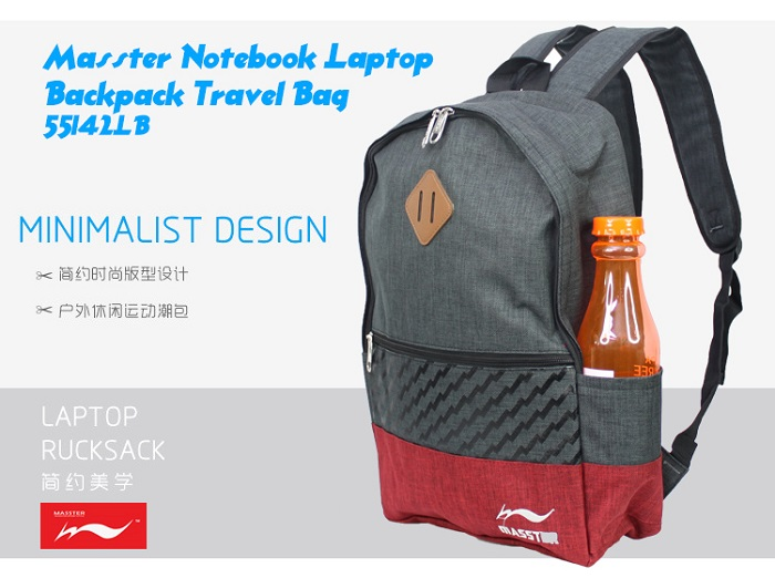 Masster Notebook Laptop 14 inch Backpack Travel Bag 55143LB
