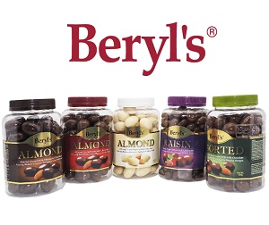 Beryl's Assorted Almond, Hazelnut & Raisin Coated With Milk Chocolate 450g