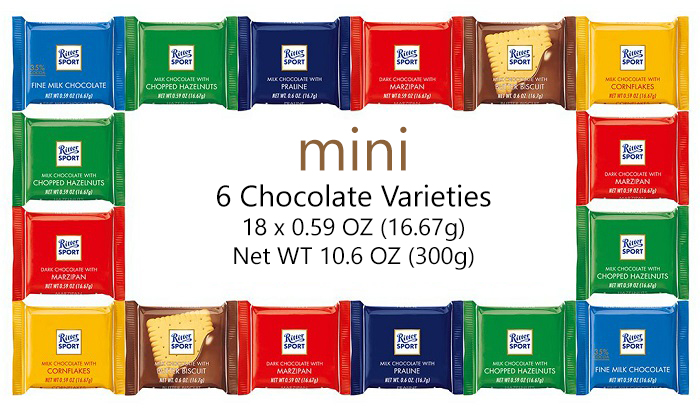 Ritter Sport Mini 6 Varieties Flavour Chocolate 300g