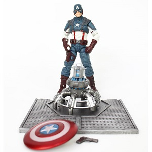 Captain America Doll Model Marvel Action Figure Joints Can Be Moving Even Comic Hero Collection High 18 cm