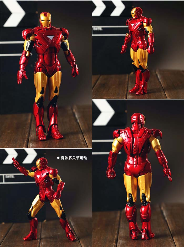 Iron Man Red Doll Model Marvel Action Figure Joints Can Be Moving Even Comic Hero Collection High 18