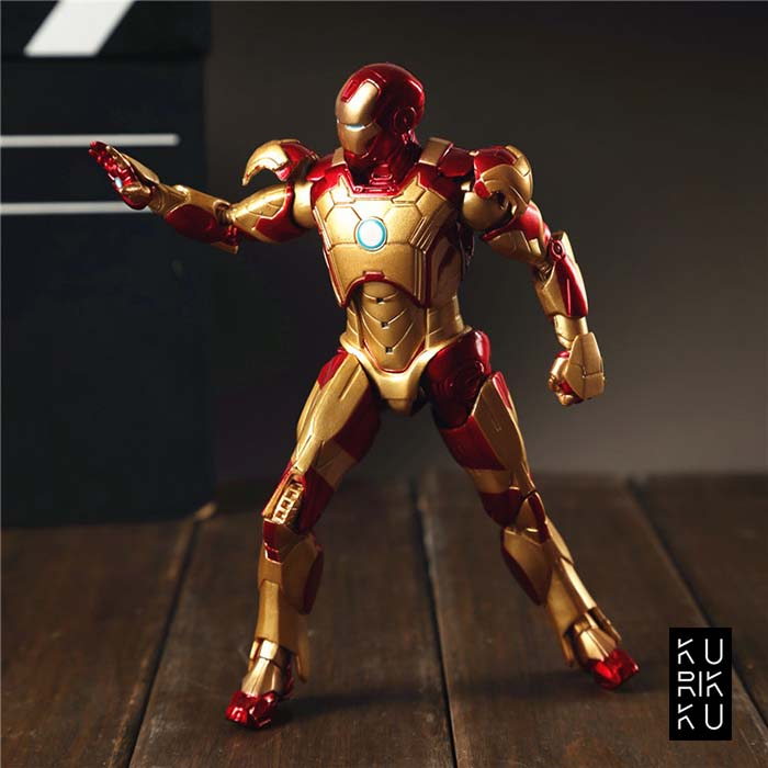 Iron Man Gold Doll Model Marvel Action Figure Joints Can Be Moving Even Comic Hero Collection High 1