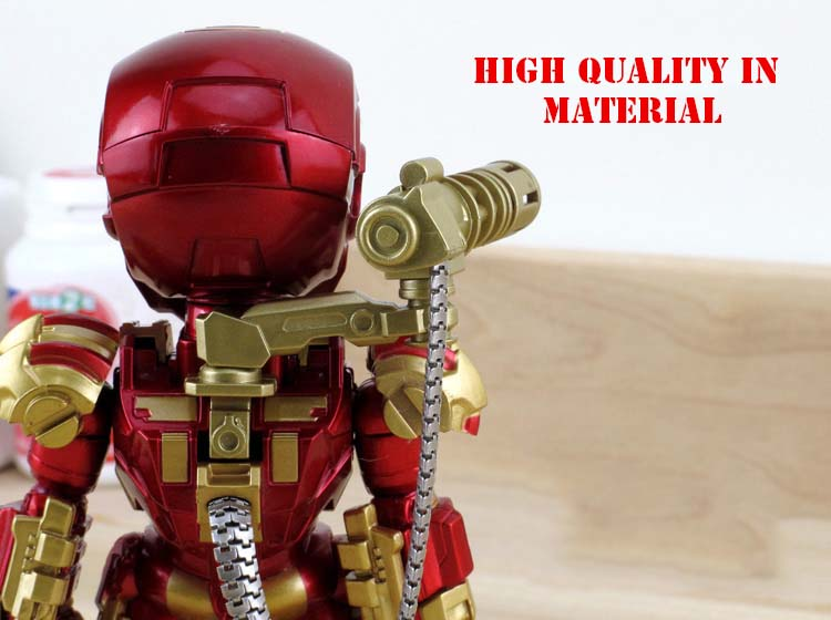 Iron Man War Machine Doll Model  Action Figure Joints Can Moving with Led Light High 13cm KL0906