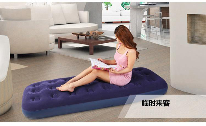 Jilong Flocked Coil Beam Inflatable Extra Large Single Air Bed Mattress