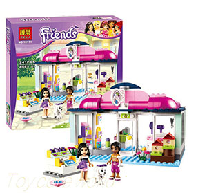 Bela Shop Friends Emma & Joanna Girls Building Block Toy No.10171
