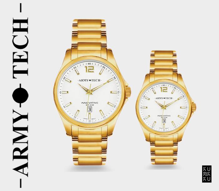 Army Tech ARSL-5046-DG Couple Fashion Steel Watch