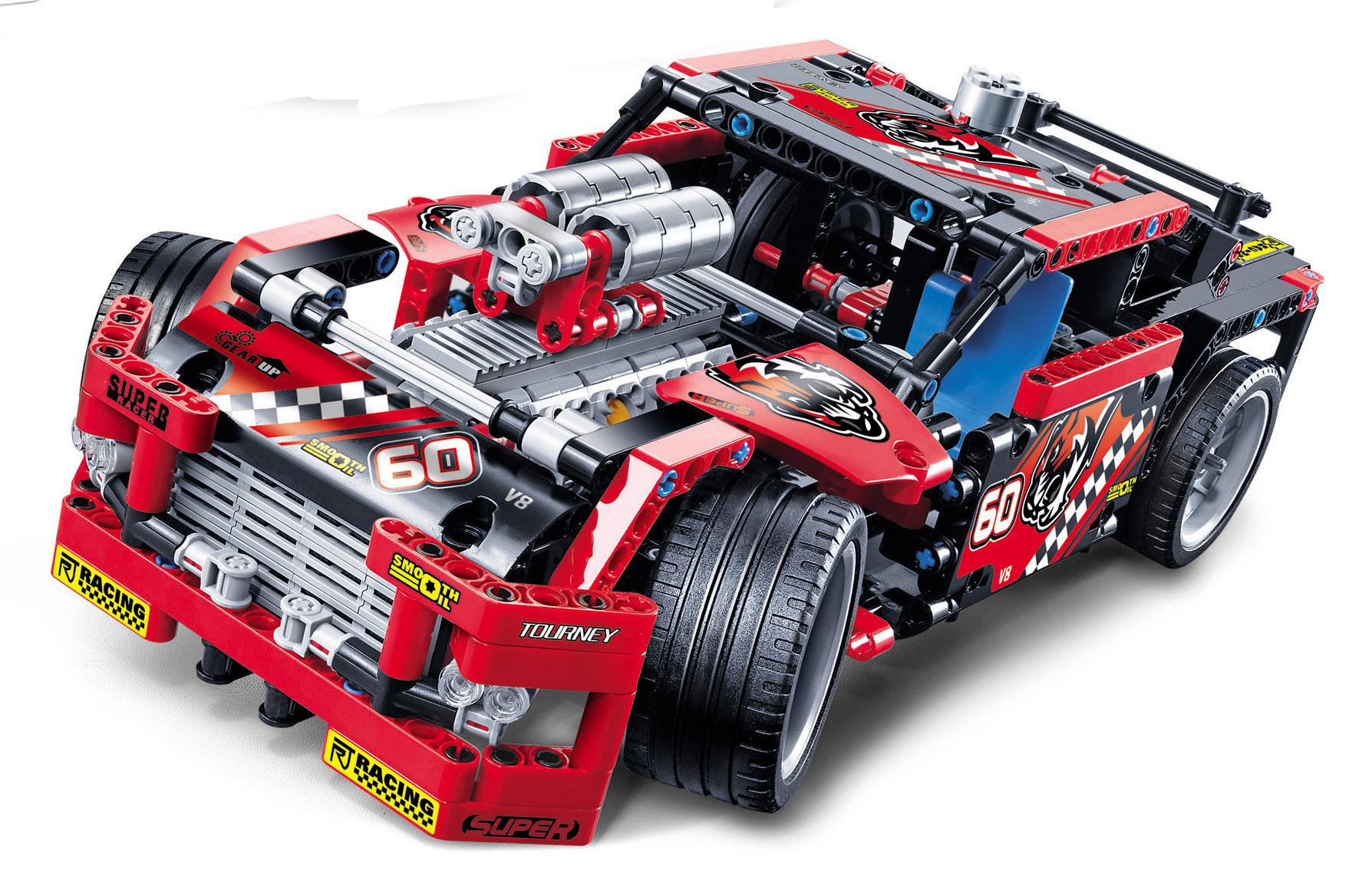 Decool 3360 Race Truck Car 2 In 1 Transformable Technic Building Block Sets