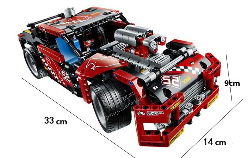 Decool 3360 Race Truck Car 2 In 1 Transformable Technic Building Block Sets