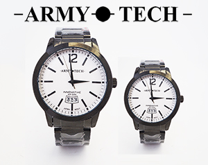 Army Tech ARSM-5047-DB Men/ Women's Stainless Steel Couple Fashion Watch
