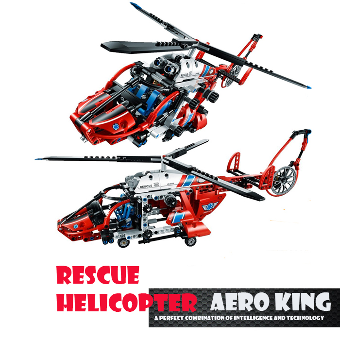 Decoole 3355 Rescue Helicopter Model Technic Building Block Sets