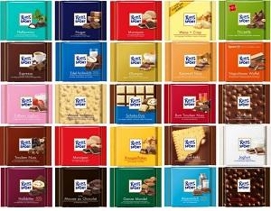 Bulk Sale: Ritter Sport 3 Pcs or 5 Pcs Varieties Flavours 100g