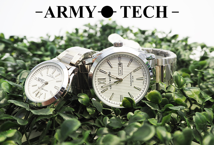 Army Tech ARSM-5041-MDDX-WR Men/ Women\'s Stainless Steel Couple Fashion Watch