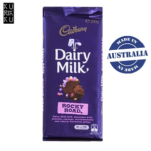 Australia Cadbury Dairy Milk Rocky Road Chocolate Bar 200G