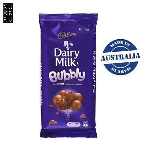 Australia Cadbury Dairy Milk Bubbly Block Chocolate Bar 155G