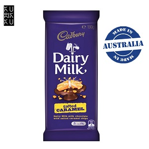 Australia Cadbury Dairy Milk Salted Caramel Chocolate Bar 190G