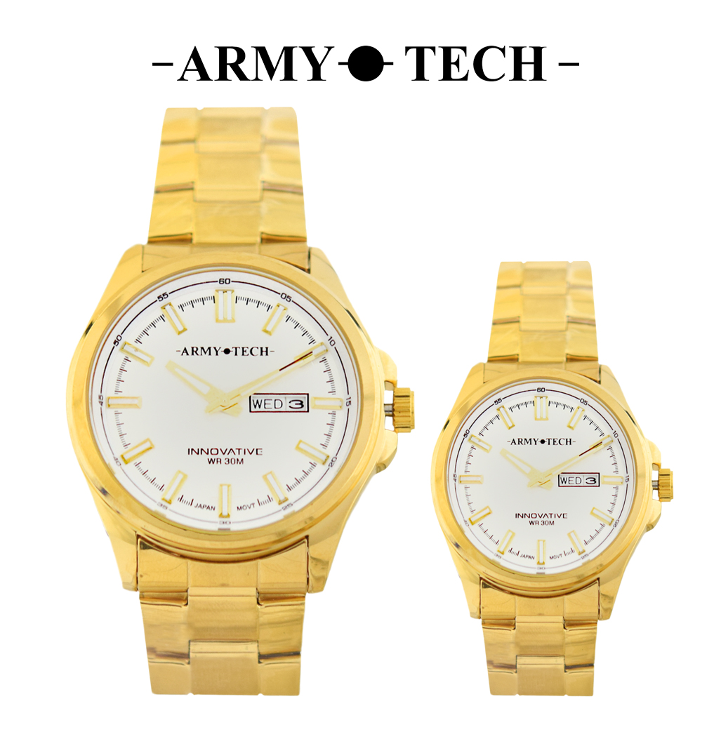 Army Tech ARSM-5039-MDDG-WR Men/ Women's Stainless Steel Couple Fashion Watch