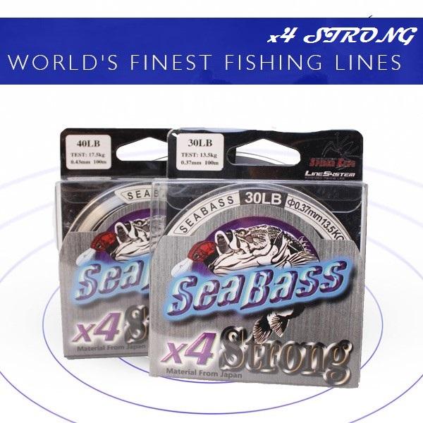 Sea Bass X4 Super Strong 100Meter Nylon Fishing Line