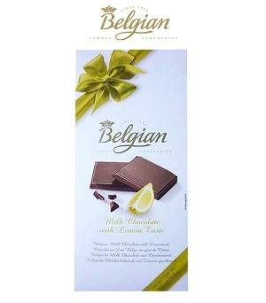 Belgian Milk Chocolate With Lemon Taste 100G