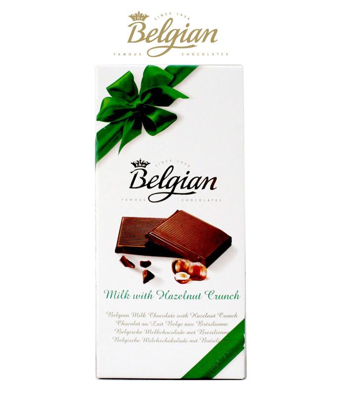 Belgian Milk With Hazelnut Crunch 100G