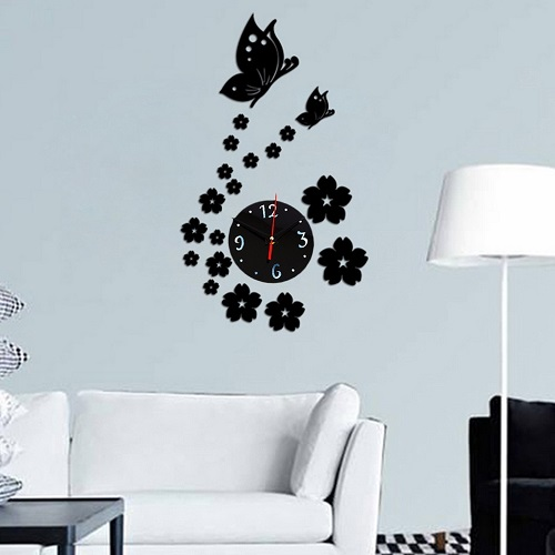 Butterfly Acrylic DIY Wall Clock
