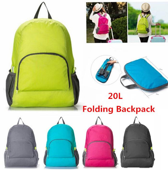 Foldable Nylon Pocket Fit On Luggage Travel Packing Organizer Backpack