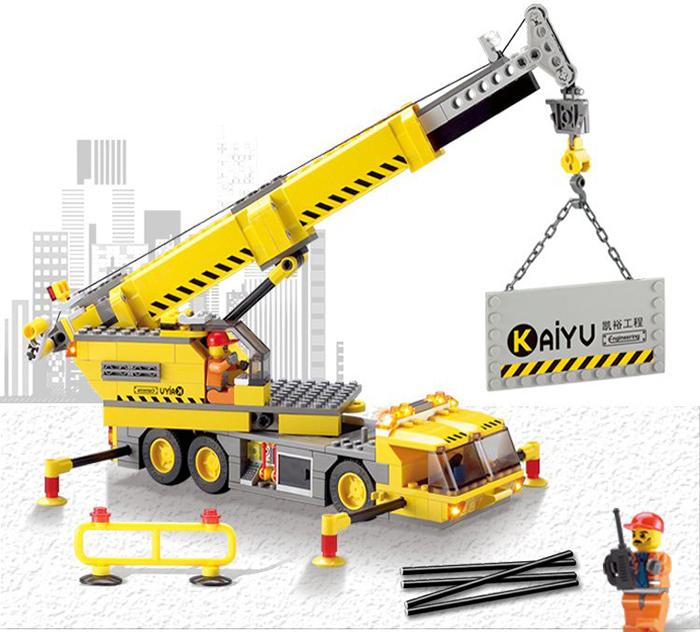 Kazi 8045 City Crane Construction Engineering Building Bricks Building Blocks Set