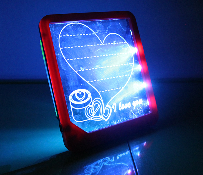 LED Light-Up Message Board Kitchen Home Gift Portable LED Writing Red