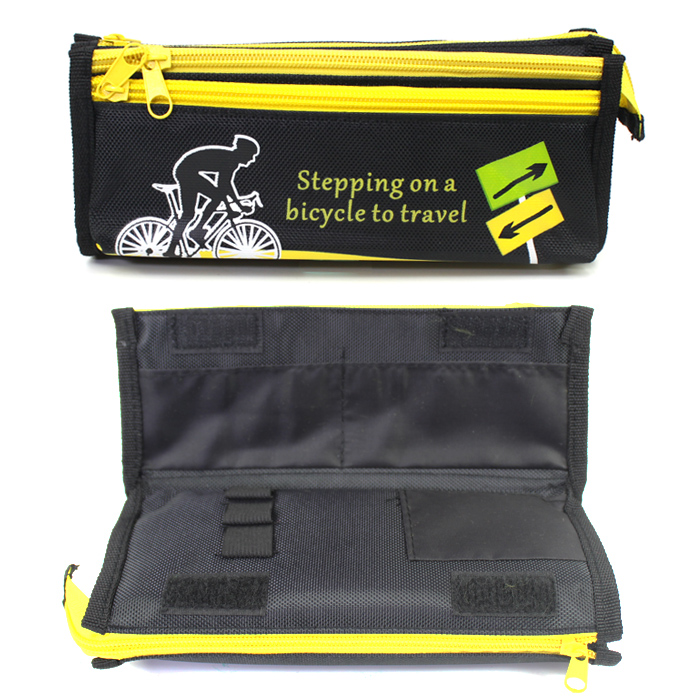 Nylon Multi Layers Pencil Case SF-1506 Yellow