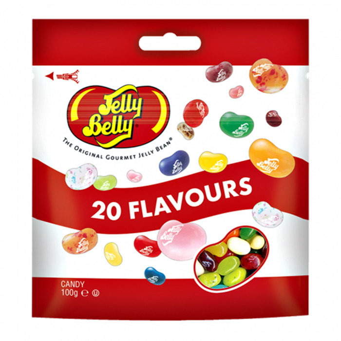 2 x Pack Jelly Belly 20 Flavors Beans Candy Bag 100g