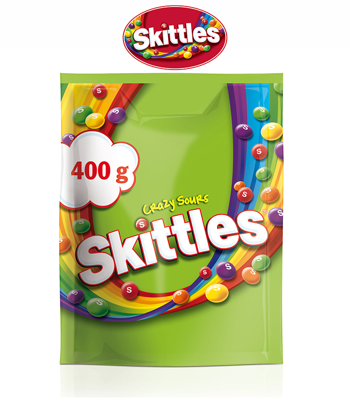 Skittles Crazy Sours Candy 400g