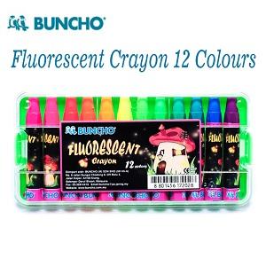Buncho Fluorescent Crayon 12 Colours