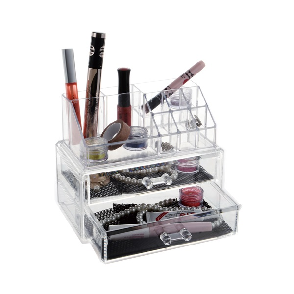 Acrylic Cosmetic Makeup 2 Drawer Case Smalll Jewelry Organizer Code 8800-2
