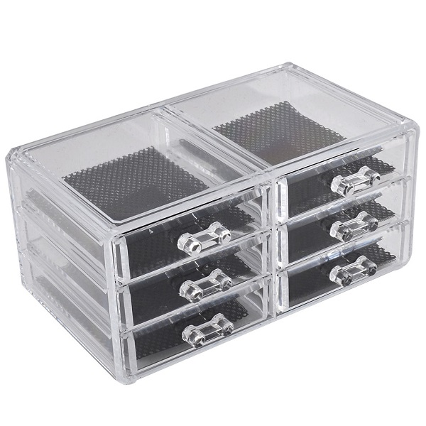 Acrylic Cosmetic Makeup Jewelry 6 Drawer Case Organizer Code 8805