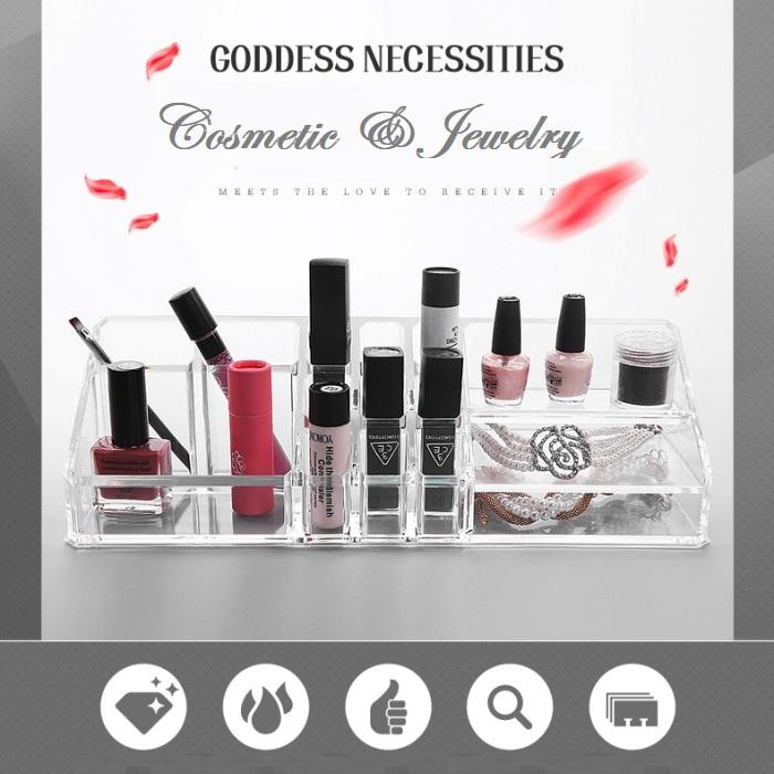 Acrylic Cosmetic Lipstick Makeup Jewelry Holder Case Organizer Code 8812