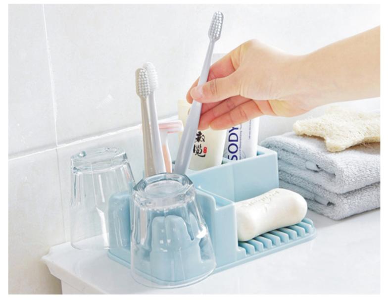 Plastic Toothbrush Holder Storage Home Bathroom