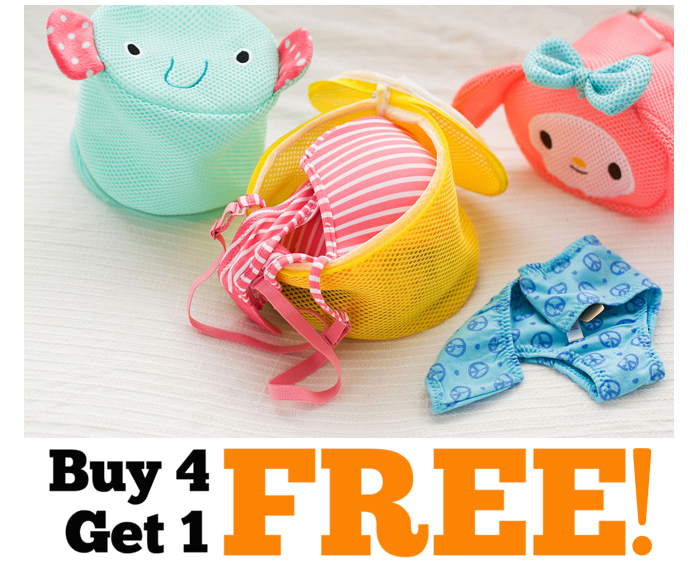 Cartoon Convenient Wash Laundry Home Clothes Washing Cosmetic Buy 4 Get 1 Free