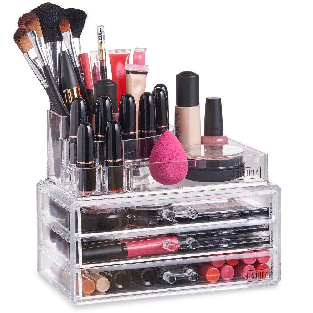 Kurikku New Arrival R 02 Pixy Moisture Lipstick 38gr Acrylic Cosmetic 3 Drawer Semicircle Make Up Jewelry Storage Large Organizer 8803 1