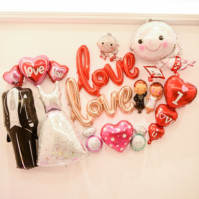 Large Bride and Groom Wedding Celebration Instagram Party Foil Balloon