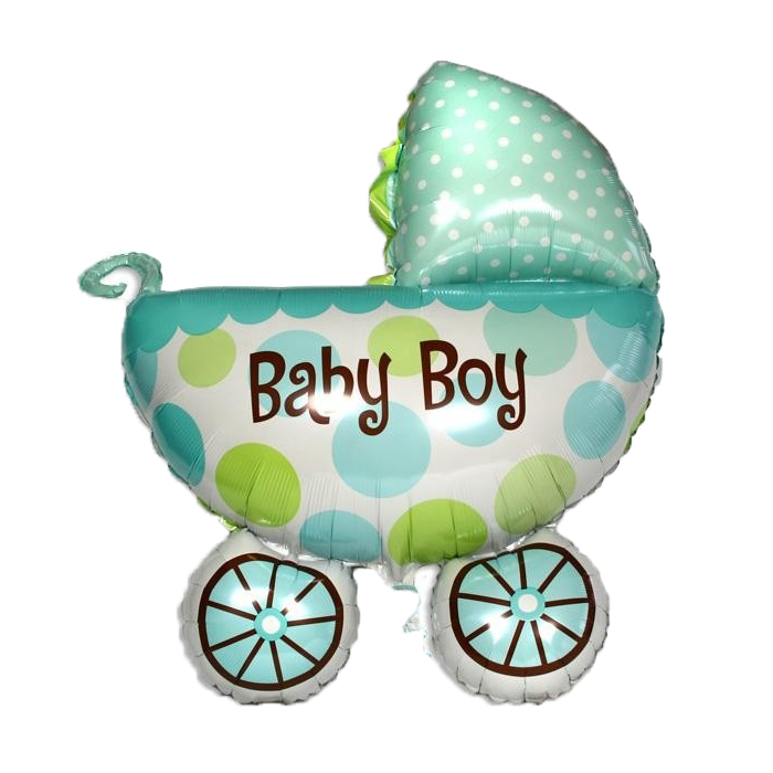Baby Carriage Newborn Baby Birthday Celebration Instagram Full Moon Party Foil Balloon