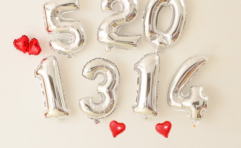 Silver Number Wedding Birthday Party Decoration Foil Balloon 16 inch