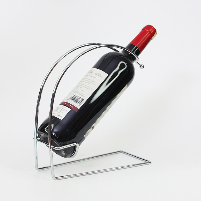 Stainless Steel Wine Rack Bottle Holder Home Exhibition Organizer