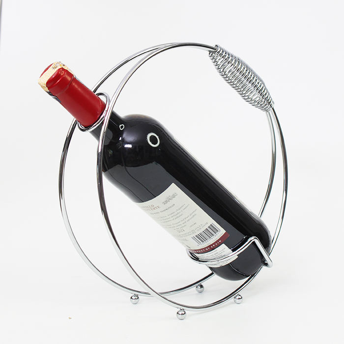 Circle Shape Stainless Steel Wine Rack Bottle Holder Home