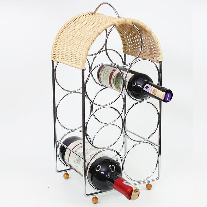Stainless Steel Wine Rack Holder Shelf Bar Kitchen Display Decor 7 Bottles