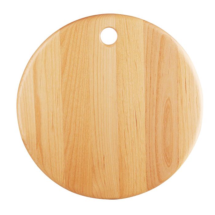 Round Rubber Wood Cutting Board Chopping Block Kitchen Baking Bread Fruit Food