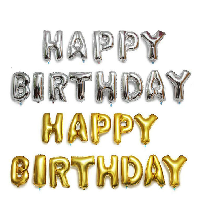 Happy Birthday Party Decoration Gold/ Silver Foil Balloon 16 inch