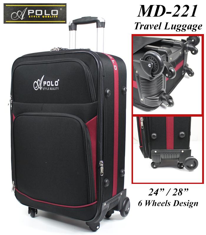 "Apolo MD-221 Travel Luggage Trolley 24""/ 28"" / 32"" Maroon"